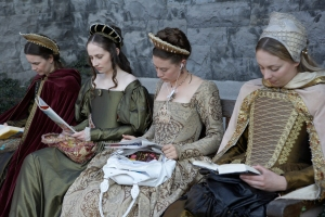 Ladies waiting on the set of The Tudors
